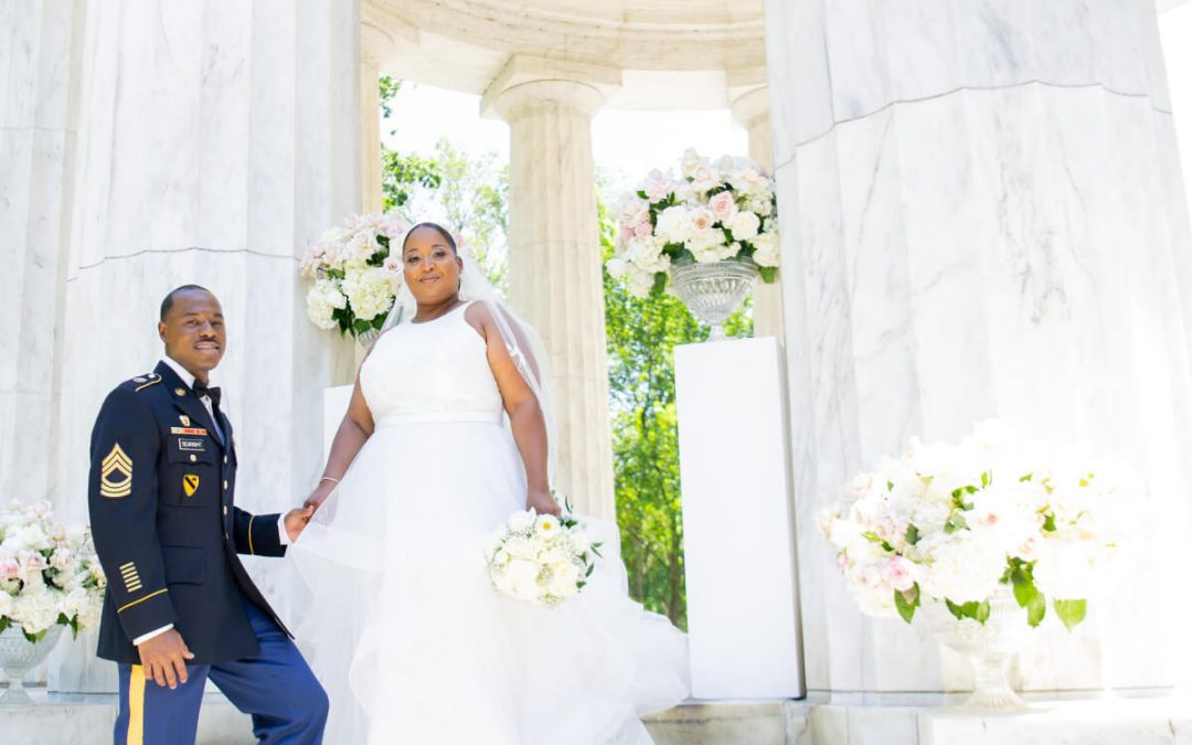 Intimate Wedding for Two at The DC War Memorial