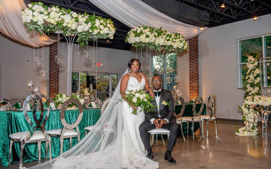 A Glamorously Green Fall Wedding in Woodstock, GA