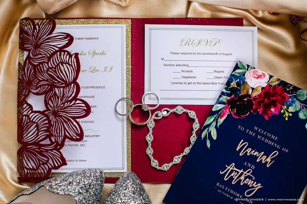 Blue and Navy Wedding Stationery