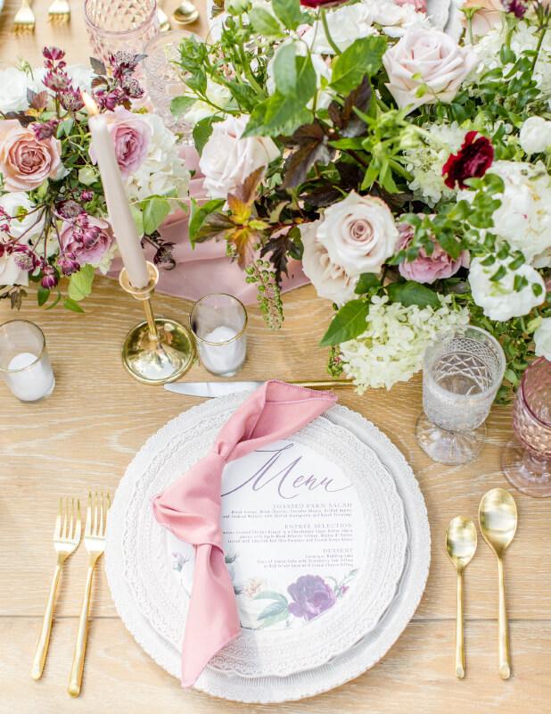 Garden Wedding Table Design